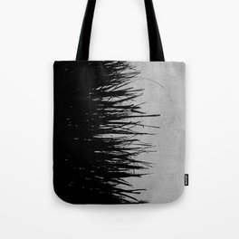 Concrete Fringe Black on Side Tote Bag