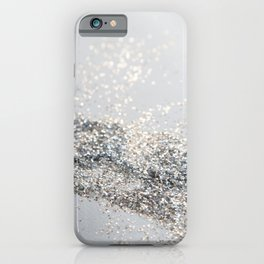 Silver Gray Glitter #2 #shiny #decor #art #society6 iPhone Case