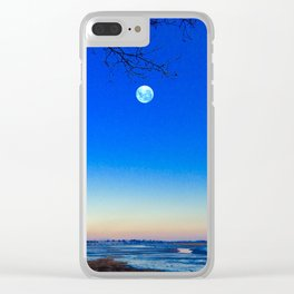 Cold Moon Clear iPhone Case