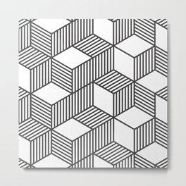 Geometric Cube 01 Metal Print