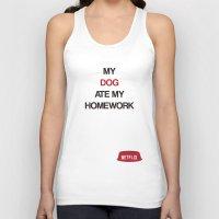 netflix Tank Tops featuring Netflix ate my Homework by J.Stiglitz
