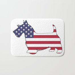 "Scottish Terrier ""American Flag"" Bath Mat"
