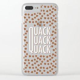 Quack quack quack like a duck Clear iPhone Case