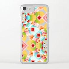 Groovy Cosmic Geometric Clear iPhone Case