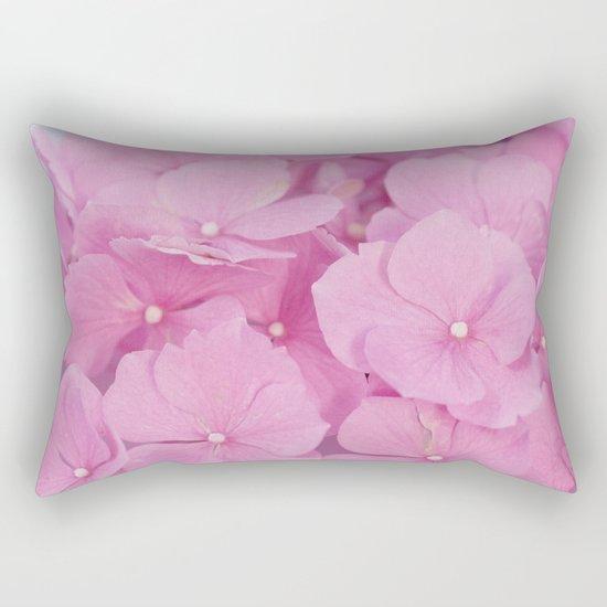 Light-Pink Hydrangeas #1 #decor #art #society6 Rectangular Pillow
