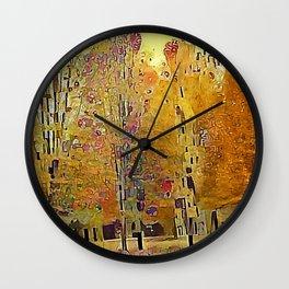 Klimt Trees Wall Clock