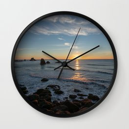 Sunset on the Oregon Coast Wall Clock