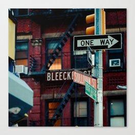 Bleecker & Sullivan Street Canvas Print