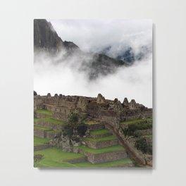 Fog Above Machu Picchu Metal Print