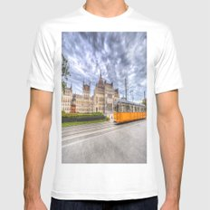 Parliament Of Budapest White Mens Fitted Tee MEDIUM