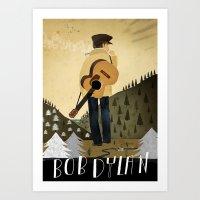 bob dylan Art Prints featuring Bob Dylan by Patrick Latimer