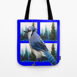 MOUNTAIN BLUE JAY SCENIC ART Tote Bag