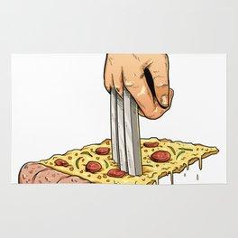 Pizza Fork Rug