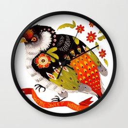 Home Sweet Home Bird Wall Clock