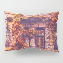 Dressed Up in Autumn - New York City Brownstones Pillow Sham