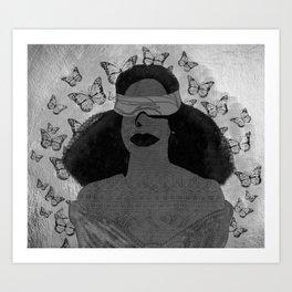 A Burst of Butterflies [Black & White] Art Print