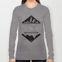 City by the Mountains Long Sleeve T-shirt