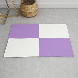 Four Squares (Lavender & White Pattern) Rug