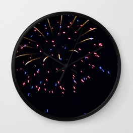 Fireworks 7 Wall Clock