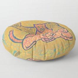 Family Cheetah Home Floor Pillow