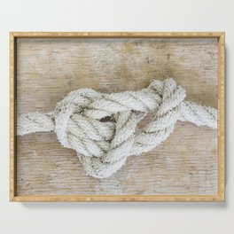 Knot on driftwood Serving Tray