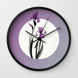 Irises Bloom Wall Clock