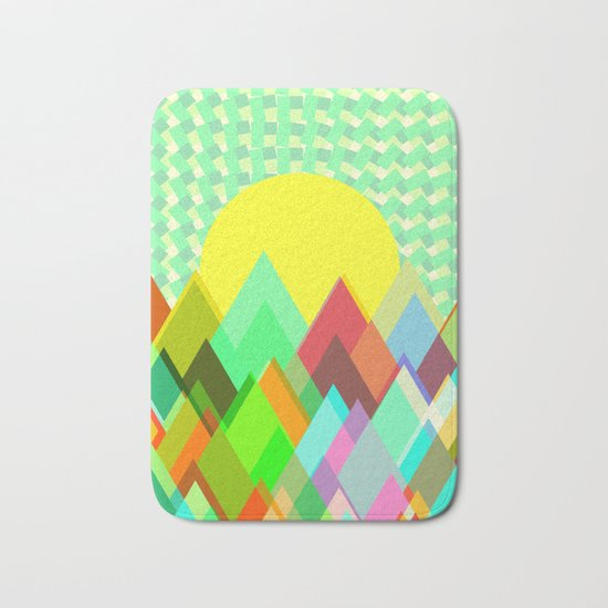 Colorful mountains Bath Mat
