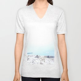 Snow on the beach Unisex V-Neck