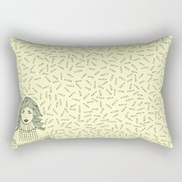 "My 'LIP STICKS' to whisper ""I Love You"". Rectangular Pillow"