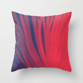 Fuschia and Midnight Blue-cc Throw Pillow