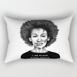 I Am Black Every Month Rectangular Pillow