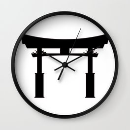 Tori Gate Silhouette Wall Clock