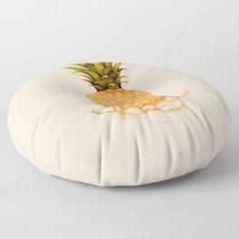 pineapple yoga Floor Pillow
