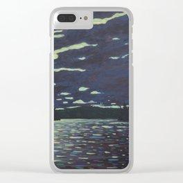 Moonlight – McIntosh Lake, Algonquin Park Clear iPhone Case