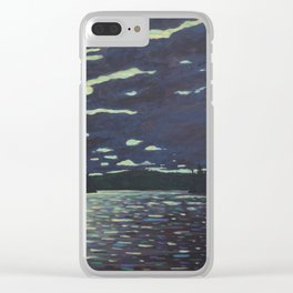 Moonlight – McIntosh Lake, Algonquin Park Clear iPhone Case