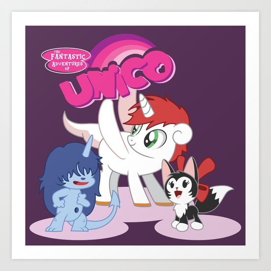My Little Unico Art Print