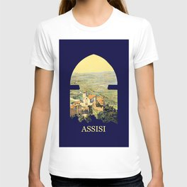 Vintage Litho Travel ad Assisi Italy T-shirt
