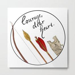 Courage Metal Print