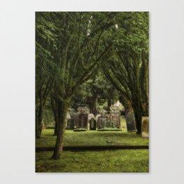 St Petroc's churchyard Canvas Print