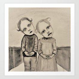 strange kids Art Print