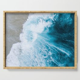 Ocean Abstract Serving Tray