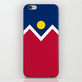 Denver City Flag - Authentic High Quality iPhone Skin