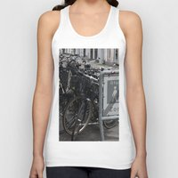 copenhagen Tank Tops featuring Locked bikes Copenhagen by RMK Creative