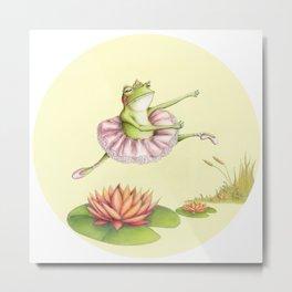 Frog Ballet Metal Print