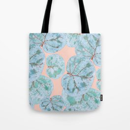 Tropical Sea Grape Leaves Tote Bag