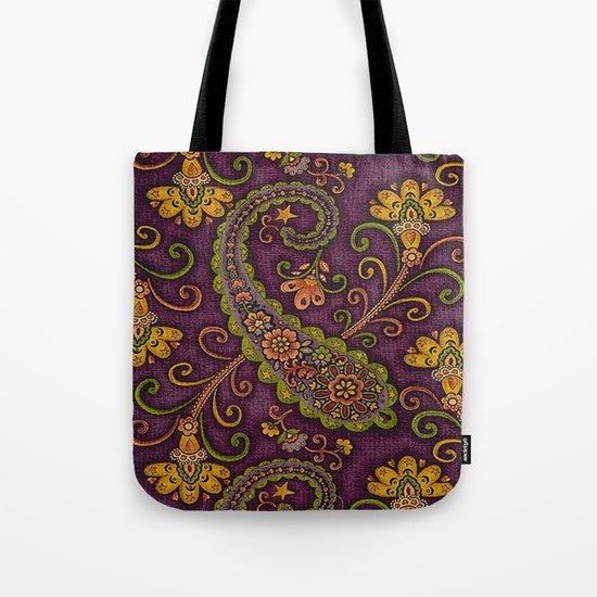 Floral Paisley Pattern 06 Tote Bag