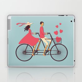 Love Couple riding on the bike Laptop & iPad Skin