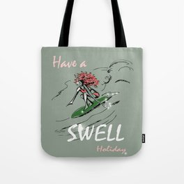 Have a Swell Holiday - Surfer Girls Christmas Tote Bag