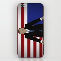 house of cards iPhone & iPod Skins featuring House Of Cards - Frank Underwood by Tom Storrer