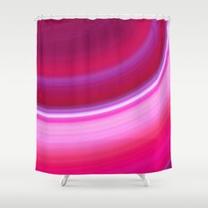 Curve in Pink Shower Curtain